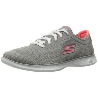 Skechers Performance Women's Go Step Lite-Agile Walking Shoe, Gray/Pink