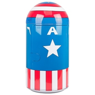 Marvel Comics Captain America - Vintage Uniform Pattern 14L Liter Thermoelectric Cooler Mini Fridge