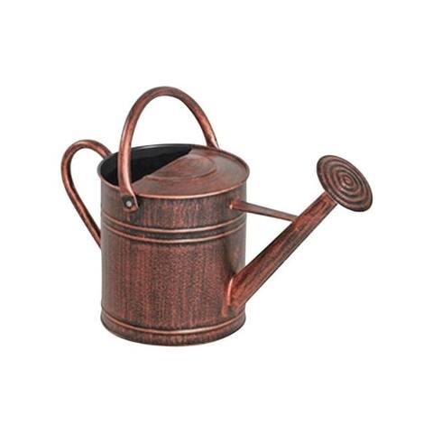 Panacea Brown 2 gal. Metal Watering Can - 9.4 x 18 x 11