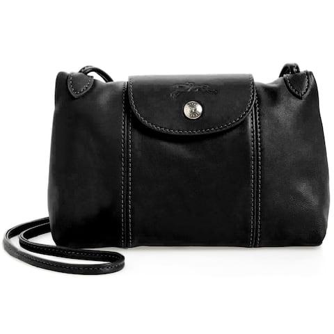 Longchamp Womens Crossbody Bag Black