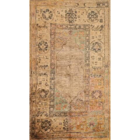 """Tribal Geometric Moroccan Oriental Area Rug Hand-knotted Foyer Carpet - 4'11"""" x 7'9"""""""