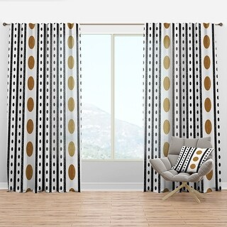 Link to Designart 'Retro Geometrical Abstract Minimal Pattern VII' Mid-Century Modern Curtain Panel Similar Items in Window Treatments