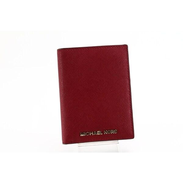 Michael Kors NEW Jet Set Cherry Red Saffiano Leather Passport Wallet