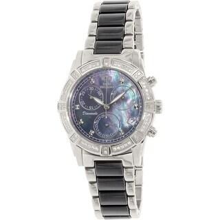 Swiss Precimax Women's Desire Elite Ceramic Diamond SP12076 Black Dress Watch