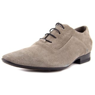 Costume National 1015237 Men  Round Toe Suede Gray Oxford