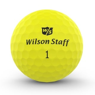 Wilson Staff Duo Soft Optix Golf Balls (Electric Glow, 12 Pack)
