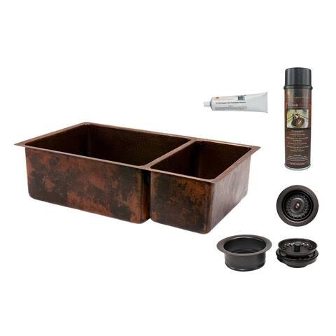 "Premier Copper Products KSP3_K75DB33199 33"" Double Basin Drop In /"