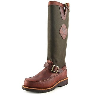 """Chippewa 17"""" Pullon All Around Snake Men Round Toe Leather Brown Hunting Boot"""