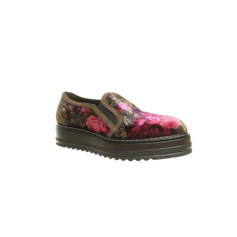 Summit Womens Belton Brown Velvet Loafers EUR 41