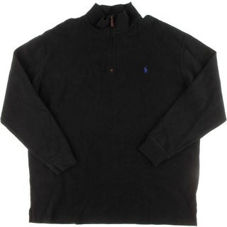 Polo Ralph Lauren Mens Big & Tall French Rib 1/4 Zip Funnel-Neck Sweatshirt