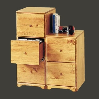 File Cabinet County Pine 3 Drawer 38h x 15.5w