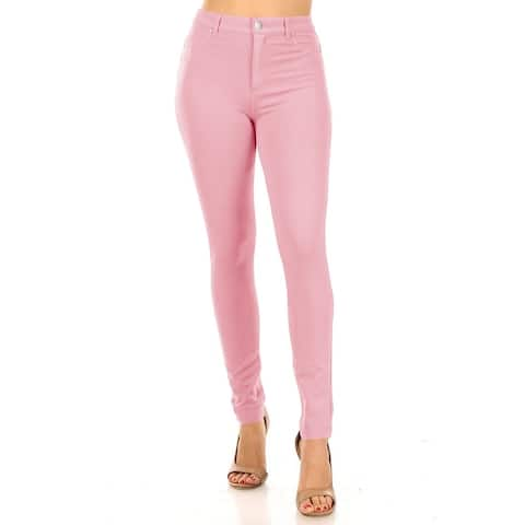 Casual Stretch Button Zip Closure Skinny Ponte Pants