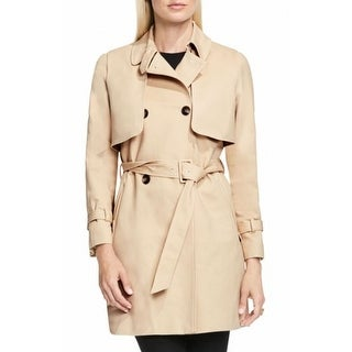 Vince Camuto NEW Beige Womens Size Small S Long Sleeve Trench Coat