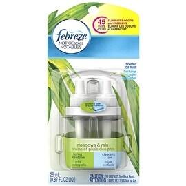 Febreze NOTICEables Dual Refill Scented Oils, Meadows & Rain 0.87 oz