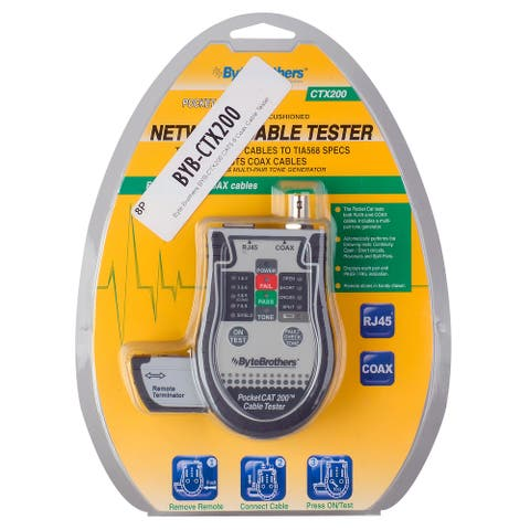 Triplett BYB-CTX200 CAT5 6 Coax Cable Tester