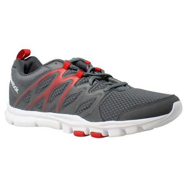 Reebok Mens Yourflex Train Sc Alloy PrimalRed White Si Cross Training Shoes c8537af04