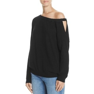 Vince Womens Pullover Sweater Cashmere Off-The-Shoulder - S