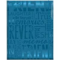 "Friends - Teal - Embossed Gloss Expressions Photo Album 4.75""X6.5"" 100 Pocket"