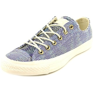 Converse Missoni Chuck Taylor Ox Women Round Toe Canvas Blue Sneakers