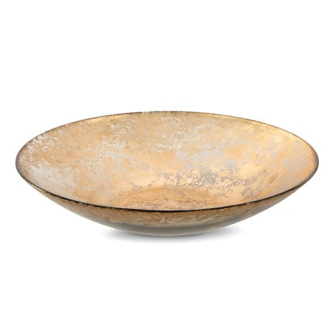 Alice Pazkus Smoked Glass Bowl With Scattered Gold Design