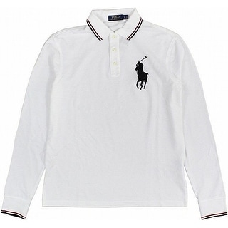 Polo Ralph Lauren NEW White Mens Size Large L Embroidered Polo Shirt