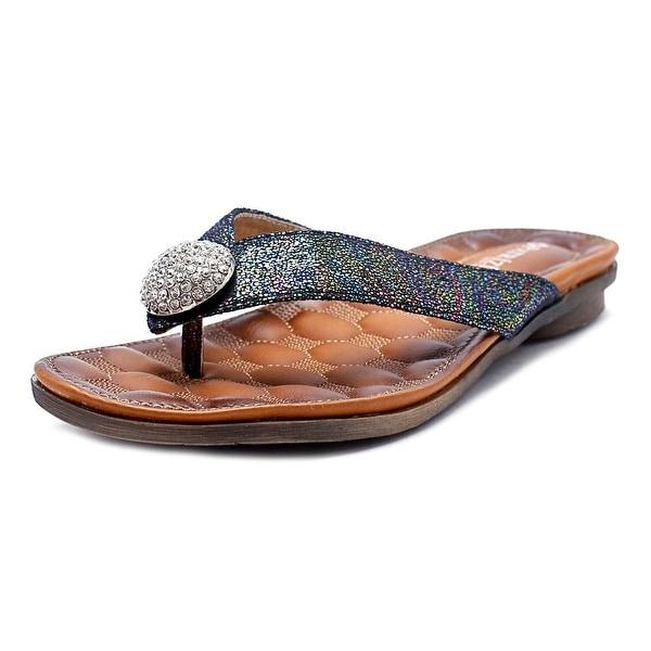 Patrizia By Spring Step Edita Women Open Toe Synthetic Black Thong Sandal
