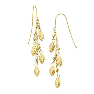 Just Gold Puffed Drops Earrings in 14K Gold - Yellow