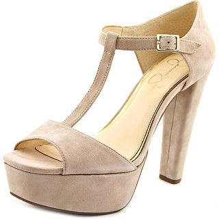 Jessica Simpson Adelinah Open Toe Suede Platform Heel