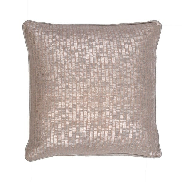 "18"" Metallic Gray Solid Square Decorative Throw Pillow"