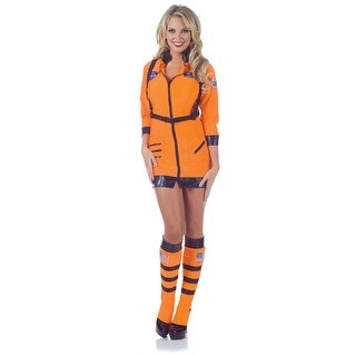 Cosmic Women's Orange Astronaut Costume
