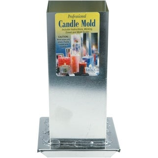 """Professional Candle Mold Metal Square-2-3/4""""X6-1/2"""""""