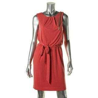 Jessica Simpson Womens Chain Pleated Cocktail Dress