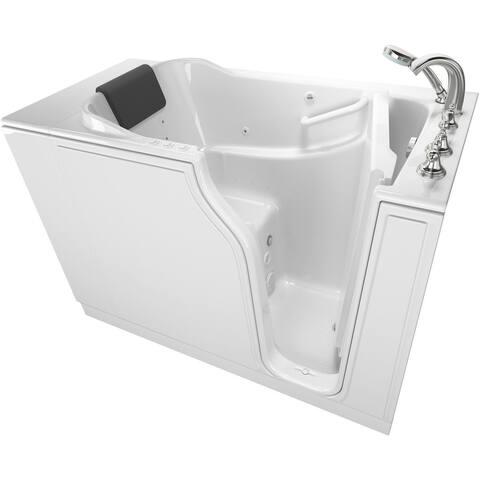"American Standard 3052.109.CR Premium 51-1/2"" Walk-In Whirlpool / Air - White"