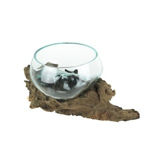 Link to Molten Glass On Gamal Wood Root Decorative Bowl/Plant Terrarium-LG - 6.25 X 14.5 X 8 inches Similar Items in Decorative Accessories