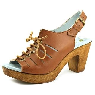 Eric Michael Jeanette Open-Toe Leather Slingback Sandal
