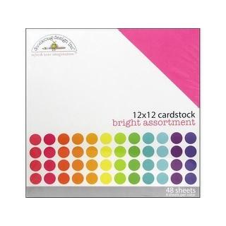 Doodlebug Cardstock 12x12 Textured Bright