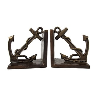 Antiqued Bronze Anchor Bookends