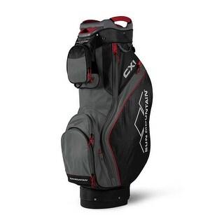 Sun Mountain 2018 CX1 Cart Bag - Gunmetal / Black / Red - CLOSEOUT - gunmetal / black / red