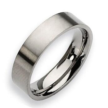 Chisel Flat Brushed Titanium Ring (6.0 mm)