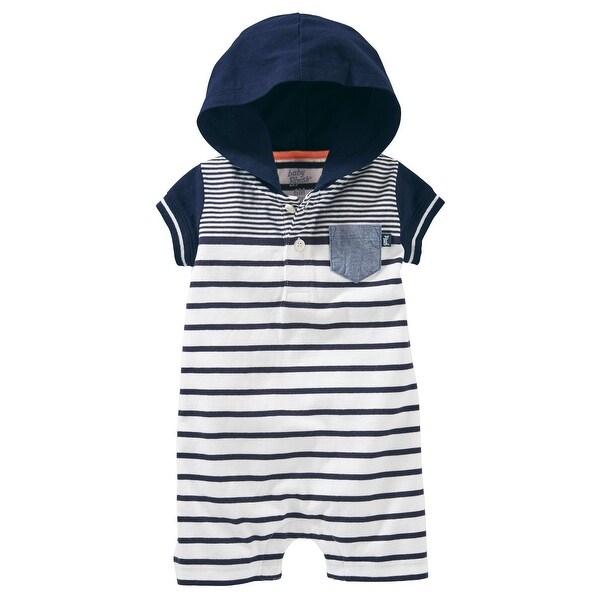 079634870c99 Shop OshKosh B gosh Baby Girls  Striped Hooded Romper