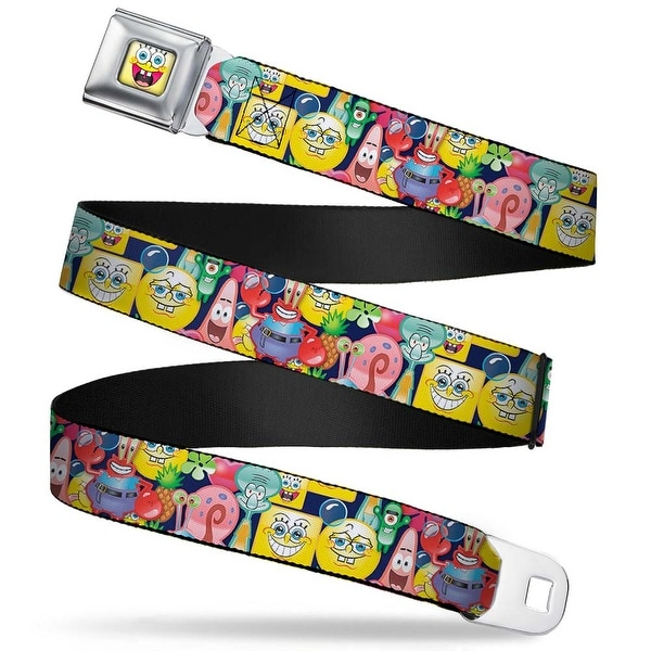 SpongeBob Open Mouth Smile Full Color SpongeBob Expressions & Friends Seatbelt Belt