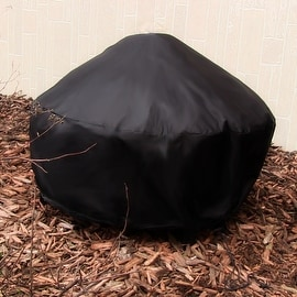 Sunnydaze Heavy Duty Black Round Fire Pit Covers