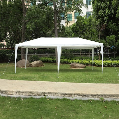 Outdoor 3 x 6m Four Sides Waterproof Tent with Spiral Tubes White