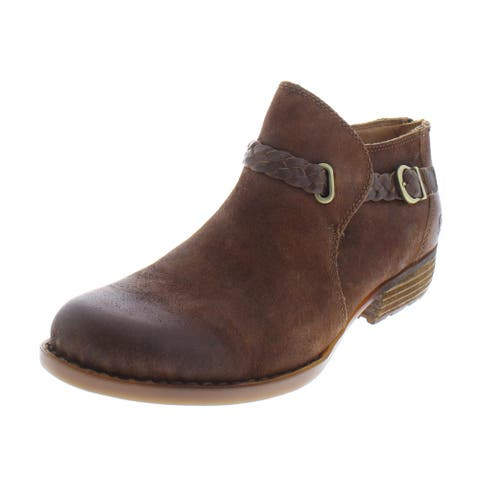 Born Womens Sylvia Booties Suede Ankle
