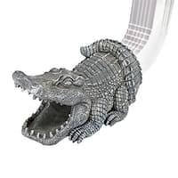 Design Toscano Swamp Alligator Gutter Guardian Downspout Statue