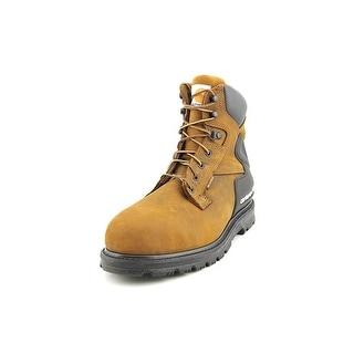 "Carhartt 6"" Work Boot Men W Round Toe Leather Brown Work Boot"