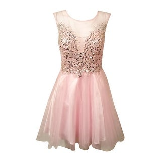 Betsy & Adam Woman's Embellished Sweethearts Dress