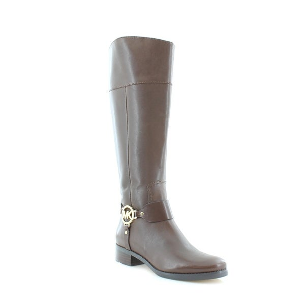 Michael Kors Fulton Tall Riding Boot Women's Boots Mocha - 5.5