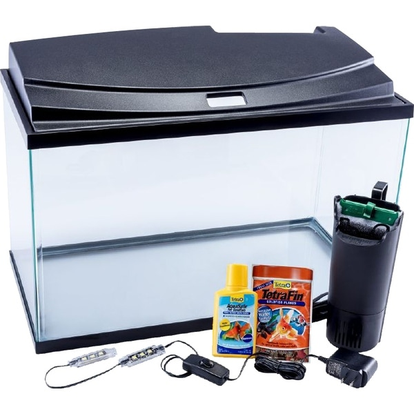 Shop Tetra Goldfish Led Aquarium Kit Free Shipping Today