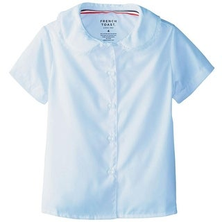 French Toast Girls 4-6X Short Sleeve Lace Blouse - White